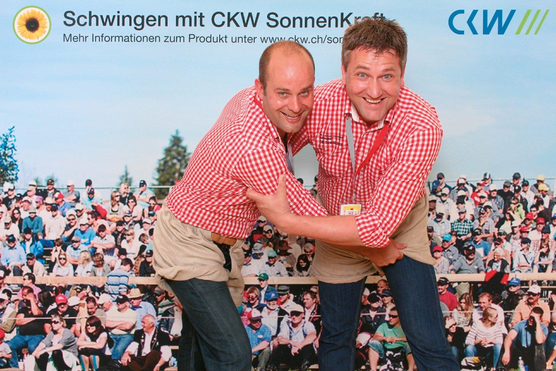 Photo Booth Mobile für die CKW am Schwingfest Inwil