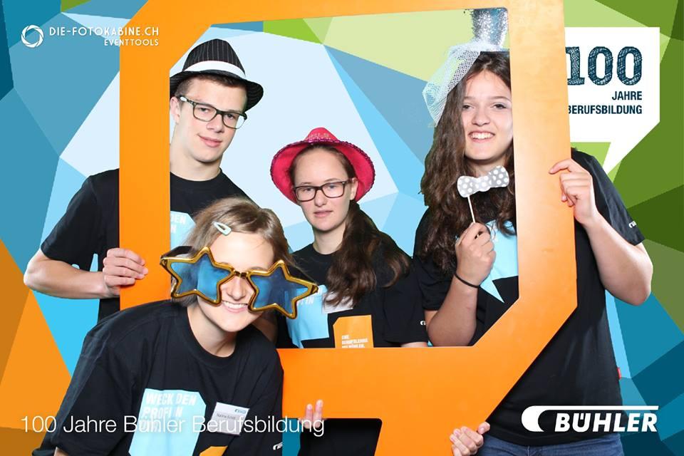 Photo Booth Pro am Tag der Bühler Berufsbildung in Uzwil St. Gallen