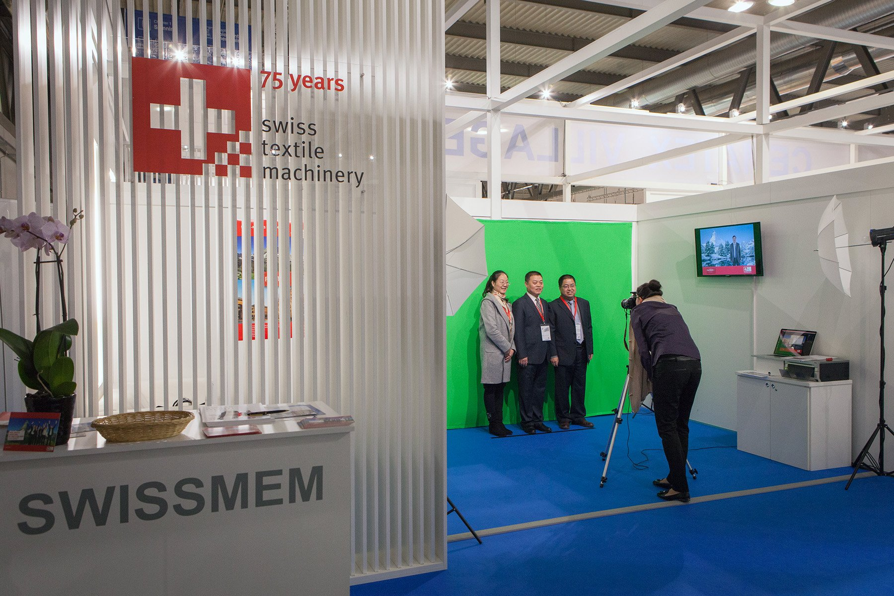 Photo Booth Open für SWISSMEM an der ITMA Milano