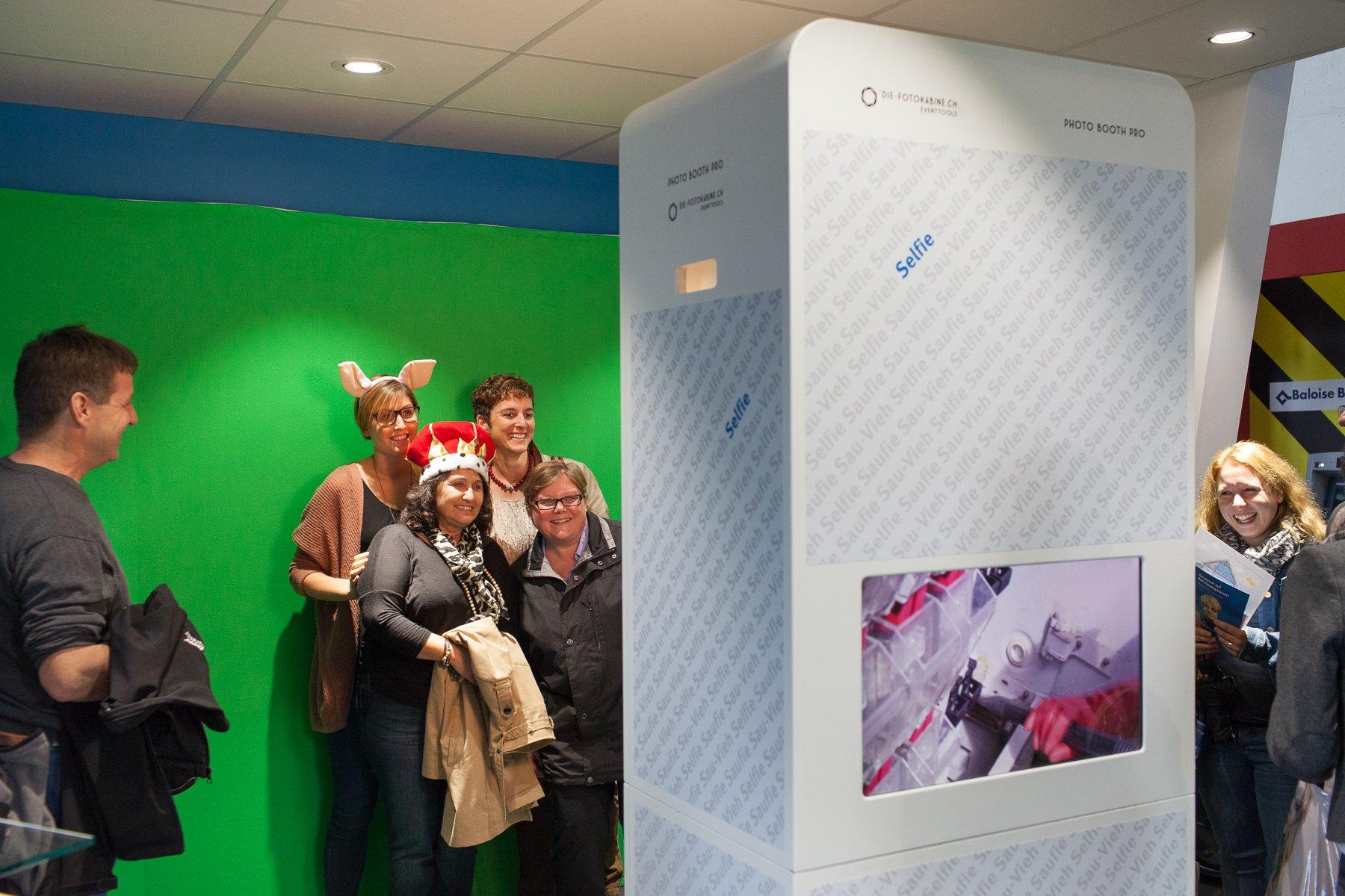 Photo Booth Pro mit Foto-Gewinnspiel für die AEK Energie an der HESO in Solothurn