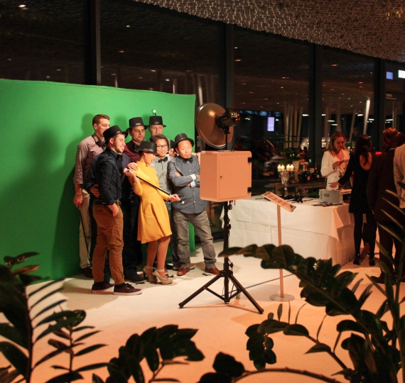 Photo Booth Mobile mit Greenscreen im Kursaal Bern