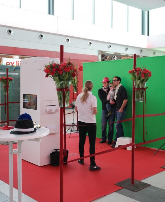 Photo Booth Pro am Valentinstag im Einkaufszentrum Zugerland