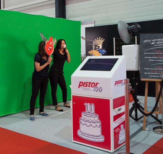 Fotobox mit Gewinnspiel an der Pistor Expo in Luzern