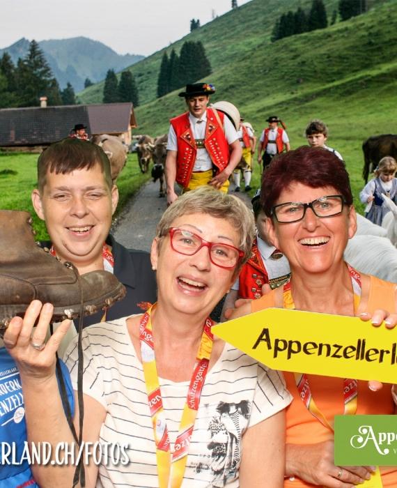 Appenzeller Genuss Wanderung: Mobile Fotobox mit Upload in Online-Galerie