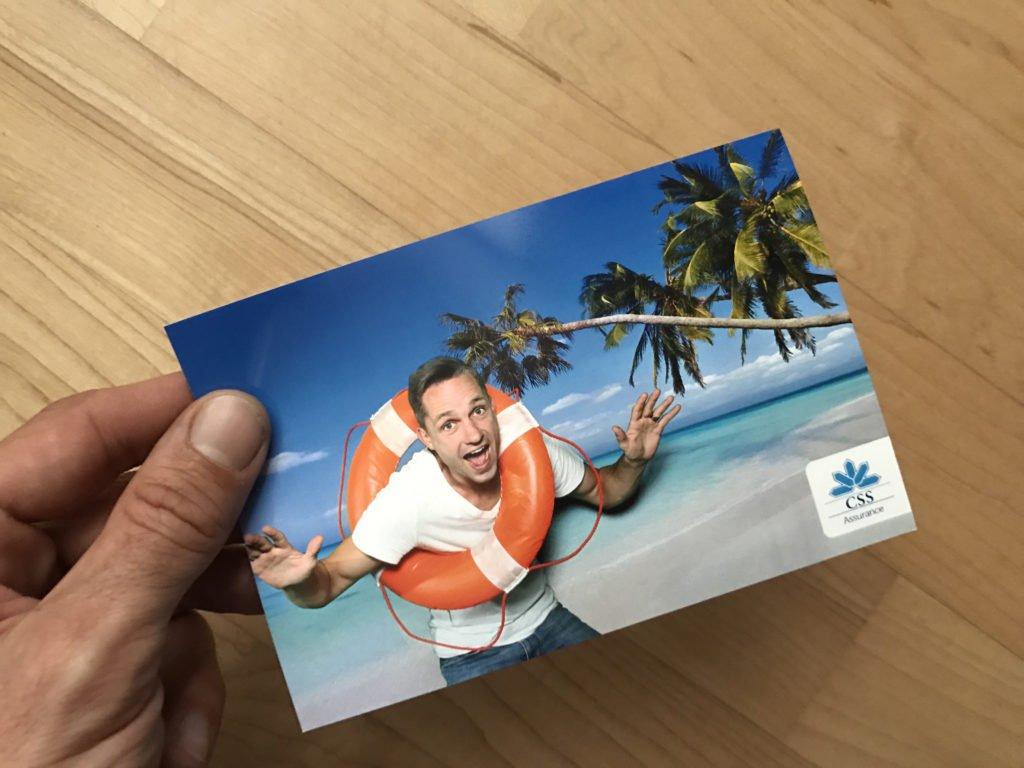 Fotobox mit Postkartendruck