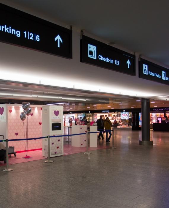 Photo Booth Pro im Airport Center am Flughafen Zürich