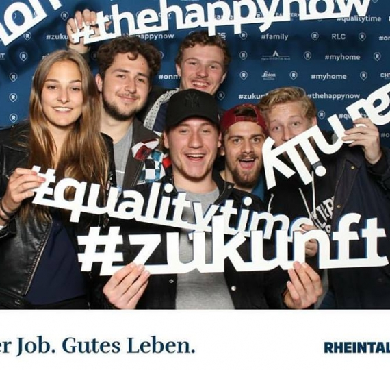 Photobooth an der RHEMA am Stand von Rheintal.com