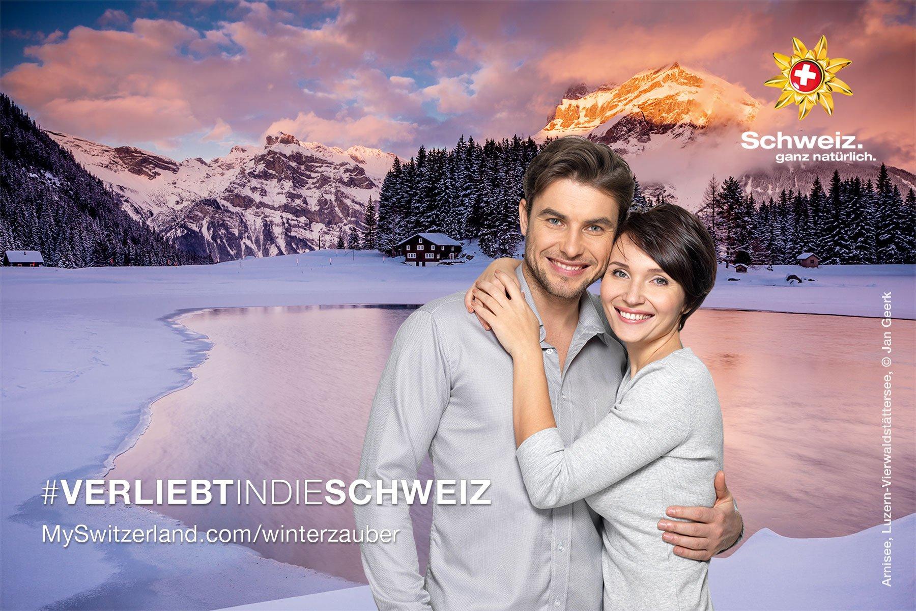 """Schweiz Tourismus: Fotobox während Aktion """"Winterzauber"""""""