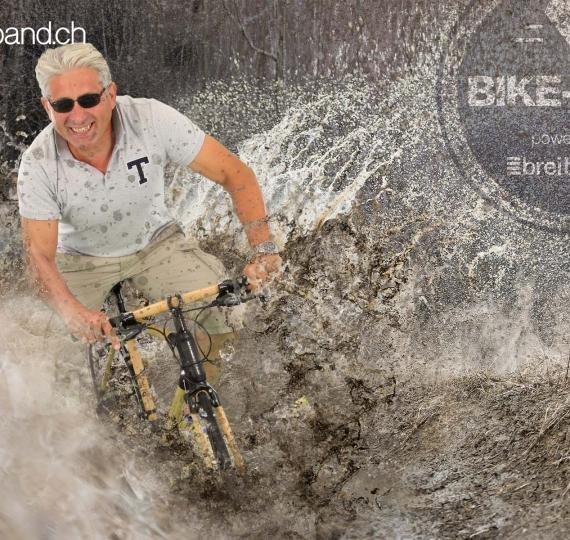 Bikefestival Basel: Greenscreen Trickstudio im Zelt von breitband.ch