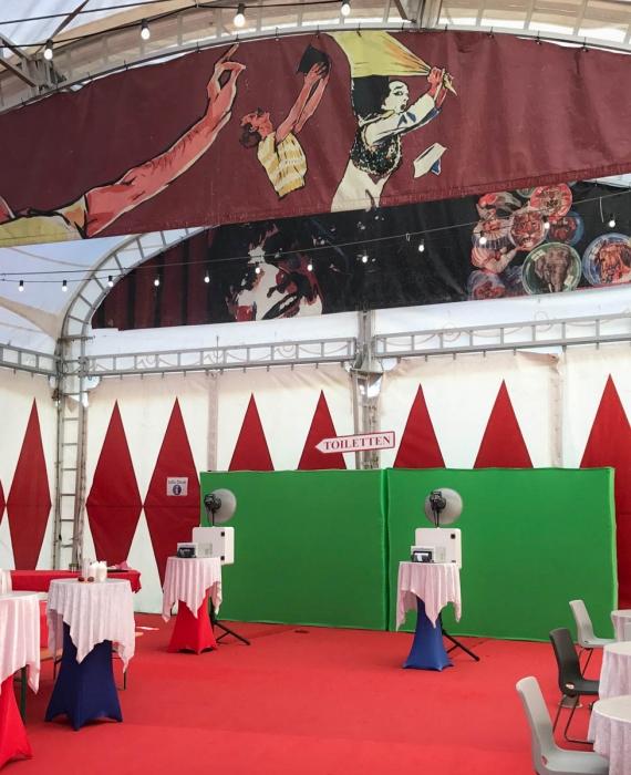 Zirkus Knie, Biel: 2x Fotobox mit Greenscreen