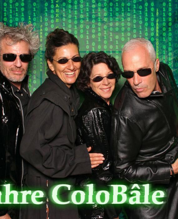Fotos im Matrix-Stil an der ColoBale Party in Basel