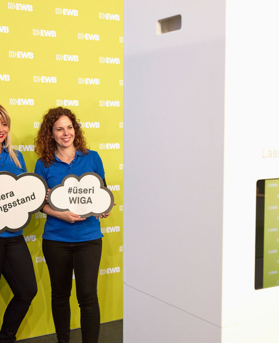 Photobooth an der WIGA 2019 in Buchs